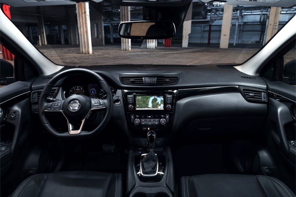 2020 Nissan Rogue Sport interior layout.