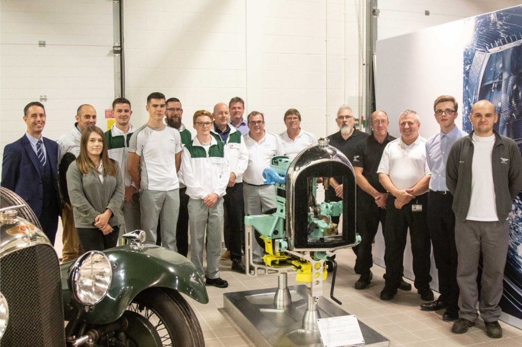 Members of the Bentley apprentice program have restored a historic engine as part of the company's centenary year celebrations.