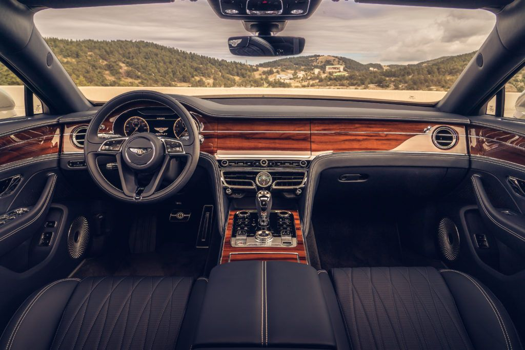 2020 Bentley Flying Spur interior layout.