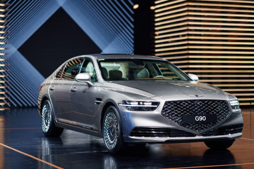2020 Genesis G90 on display at the China International Import Expo, Nov. 5th 2019.