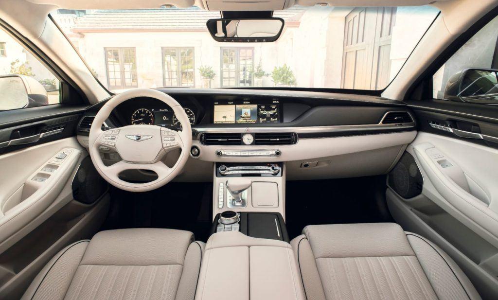 2020 Genesis G90 interior layout.