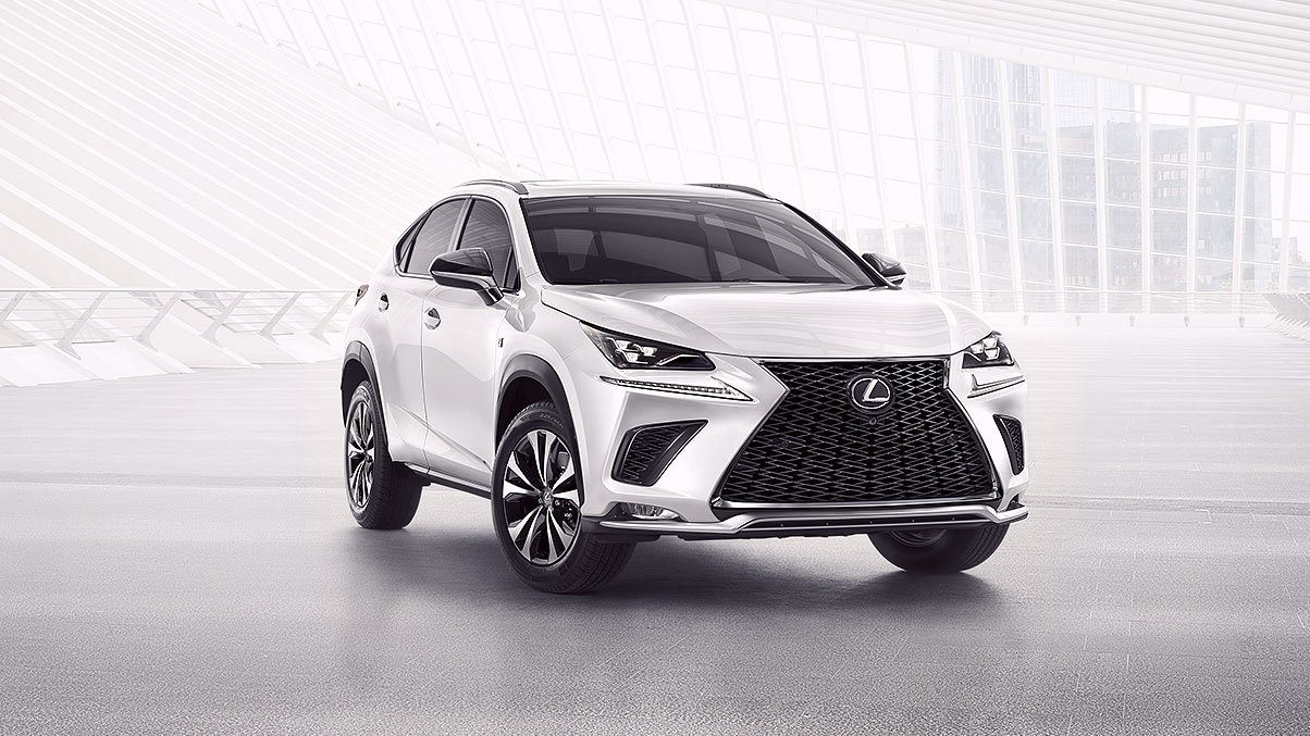 Lexus NX fsport shown in ultra white gallery overlay 1204x677 LEX NXG MY18 0087