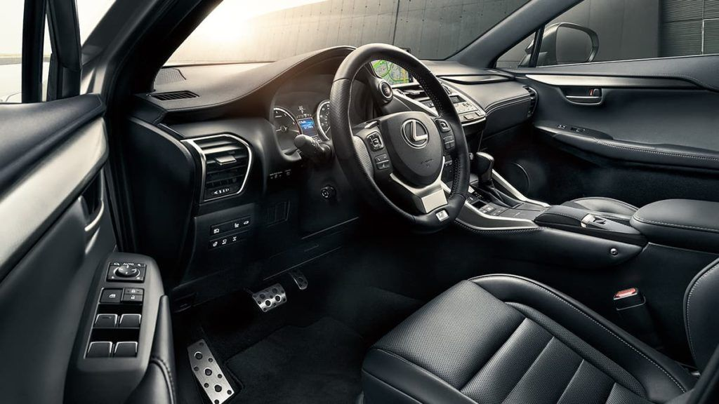 2020 Lexus NX 300 interior layout.