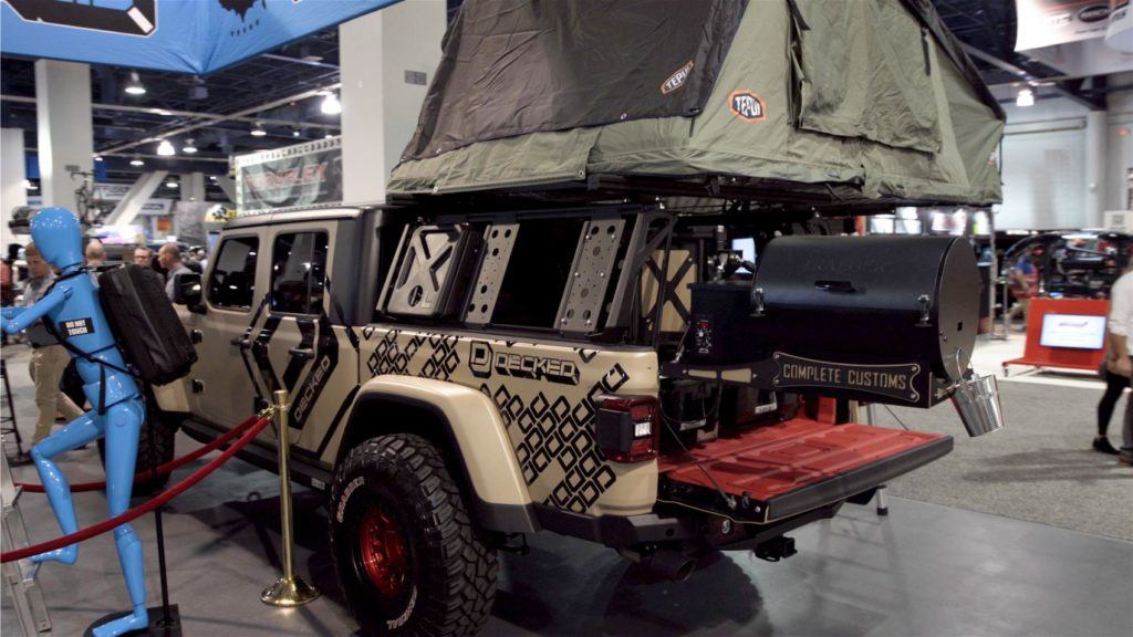A large number of trucks, modified for off-roading, occupied a lot of floor space at SEMA 2019.