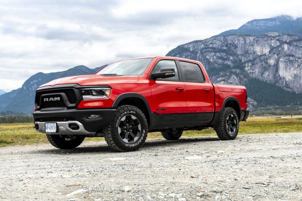 2019 Ram Rebel in Flame Red.