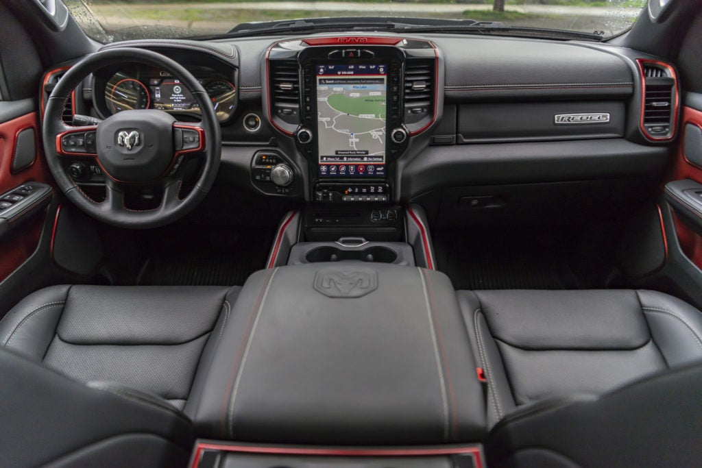 2019 Ram Rebel interior layout.