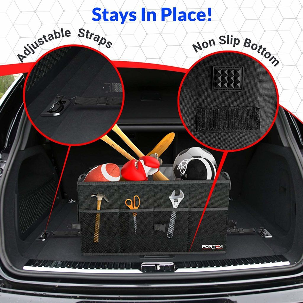 Best gifts for car guys: portable trunk organizer.