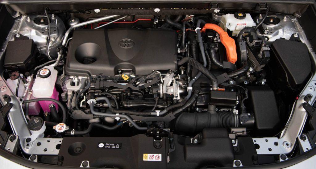 2020 Toyota RAV4 Hybrid under the hood.