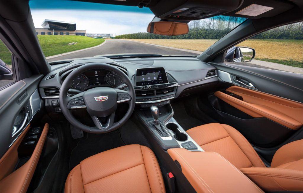 Cadillac CT4 Premium Luxury interior layout.