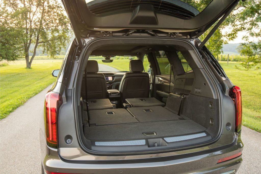 2020 Cadillac XT6 rear cargo area.