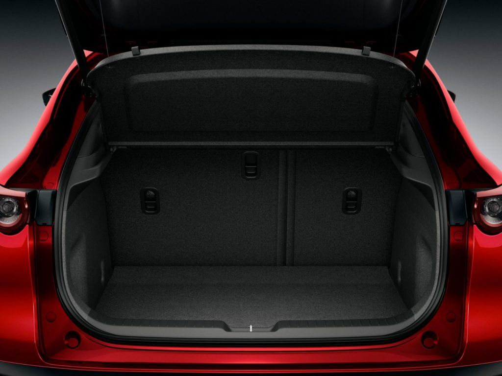 2020 Mazda CX-30 rear cargo area.