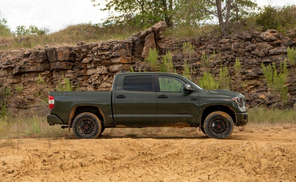2020 Toyota Tundra TRD Pro in Army Green.