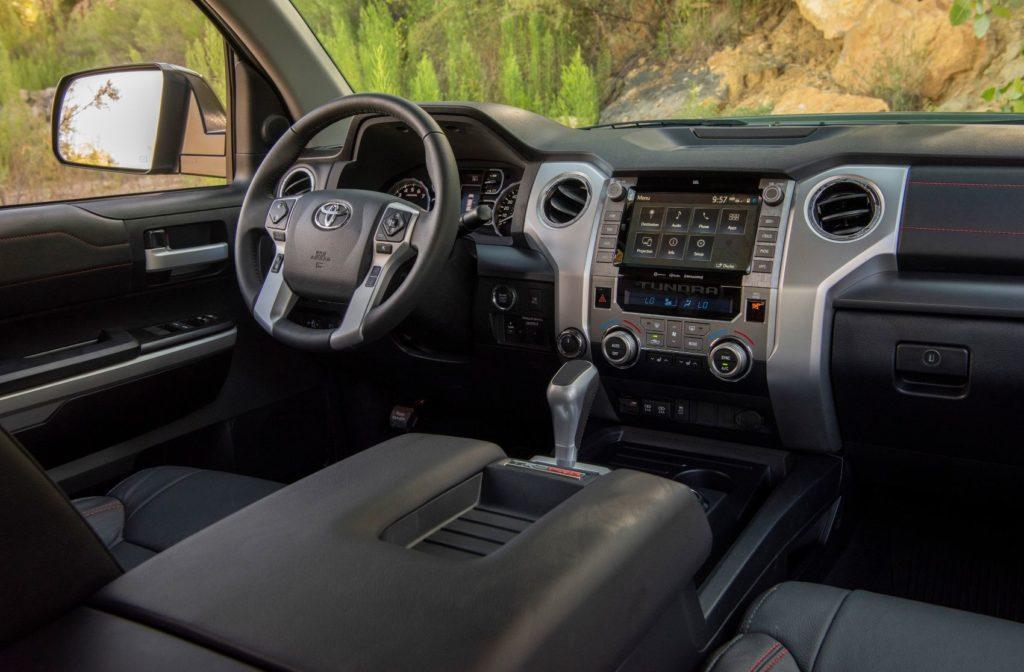 2020 Toyota Tundra TRD Pro interior layout.