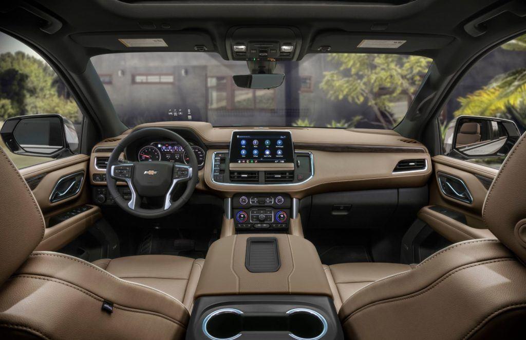 2021 Chevy Suburban interior layout.