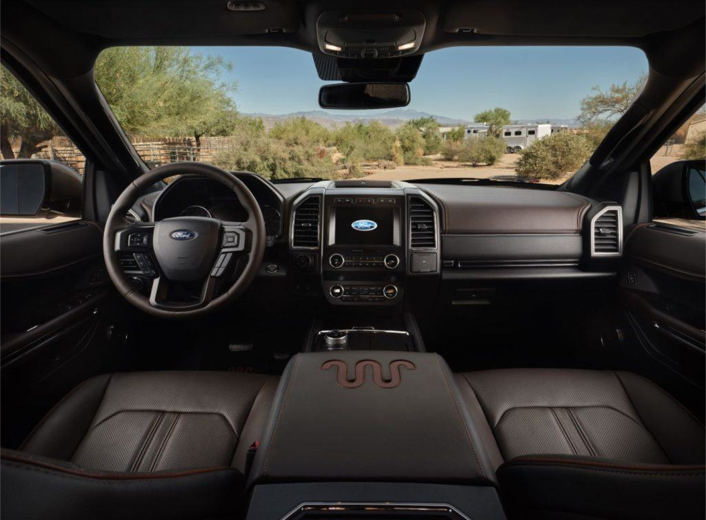 2020 Ford Expedition King Ranch interior layout.
