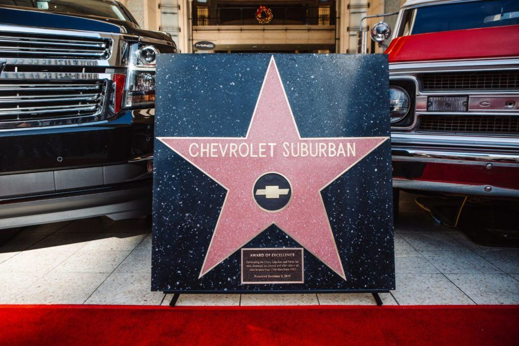The Chevy Suburban became the first vehicle ever to receive a star on the Hollywood Walk of Fame.