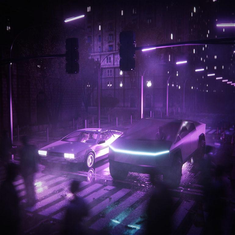 Cybertruck and Delorean