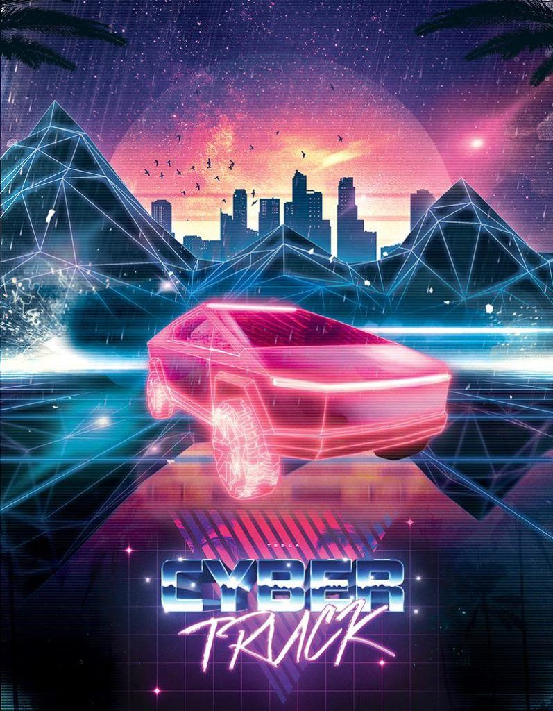 Maximum Outrun Tesla Cybertruck poster