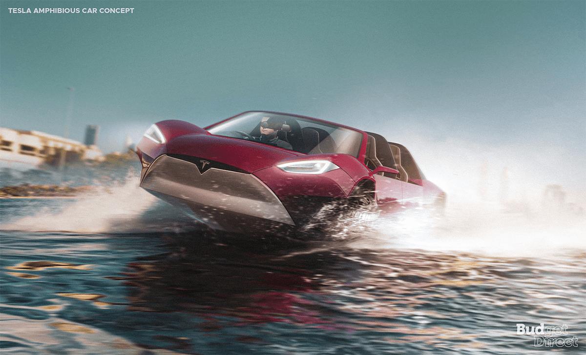 Tesla amphibious car concept
