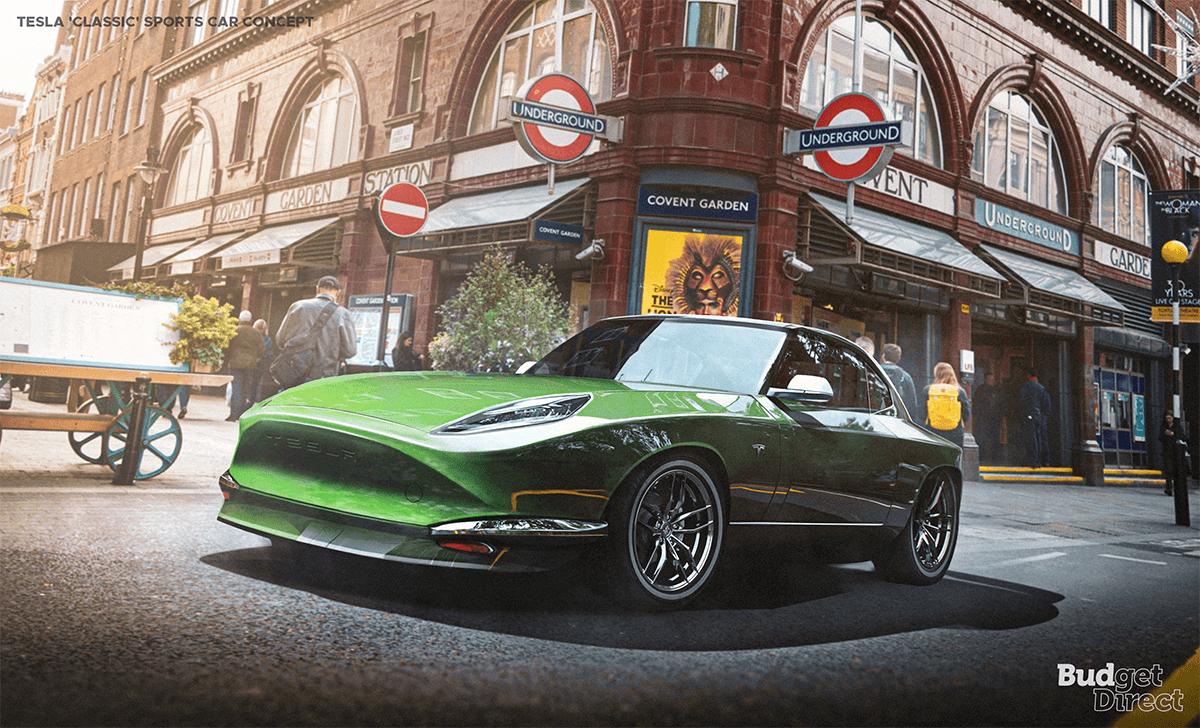 Tesla classic sports car concept