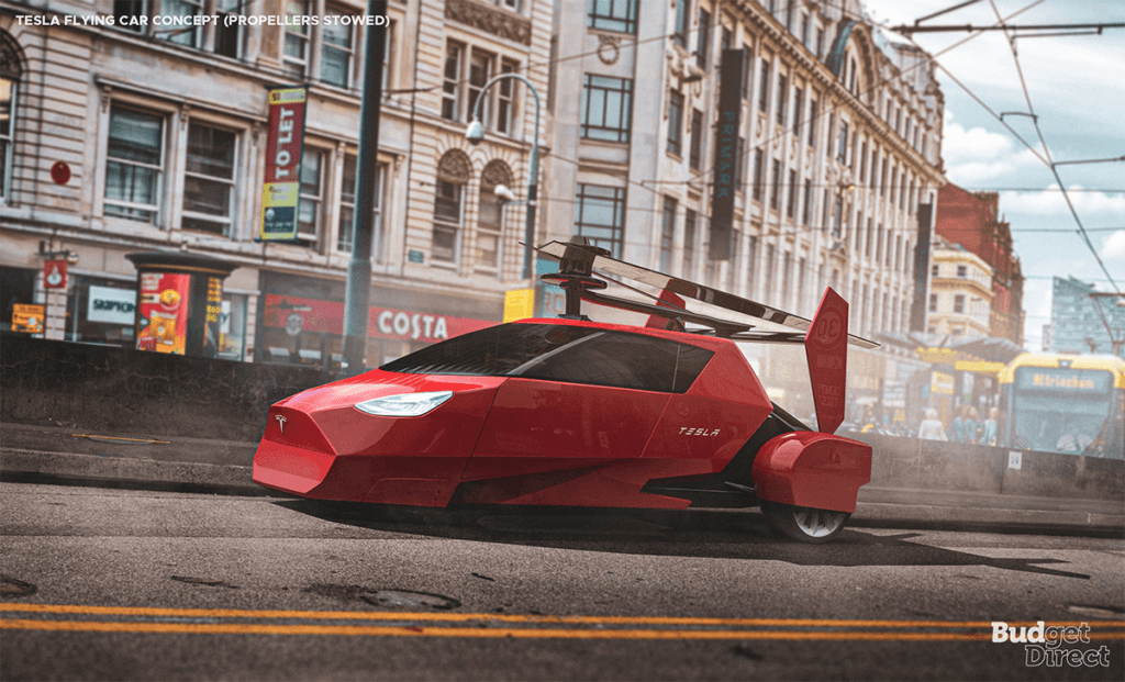 Tesla flying car concept