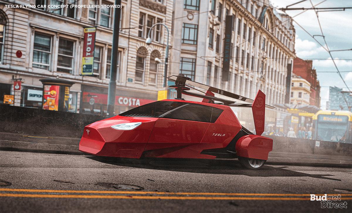 Tesla flying car concept
