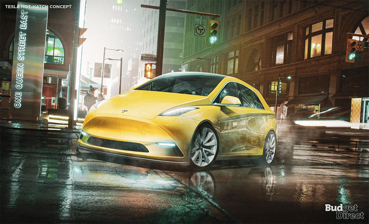 Tesla hot hatch concept