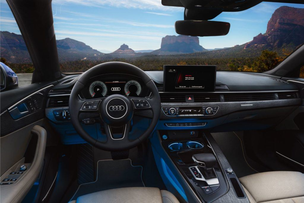 2020 Audi A5 Sportback interior layout.