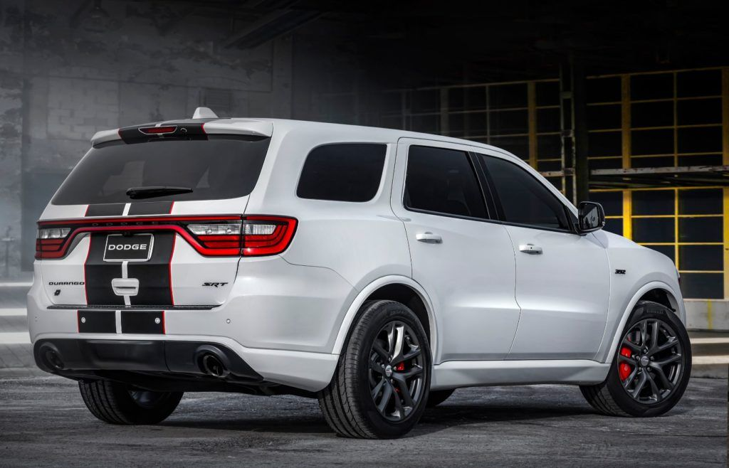 2020 Dodge Durango SRT with the Black appearance package and Redline stripe.
