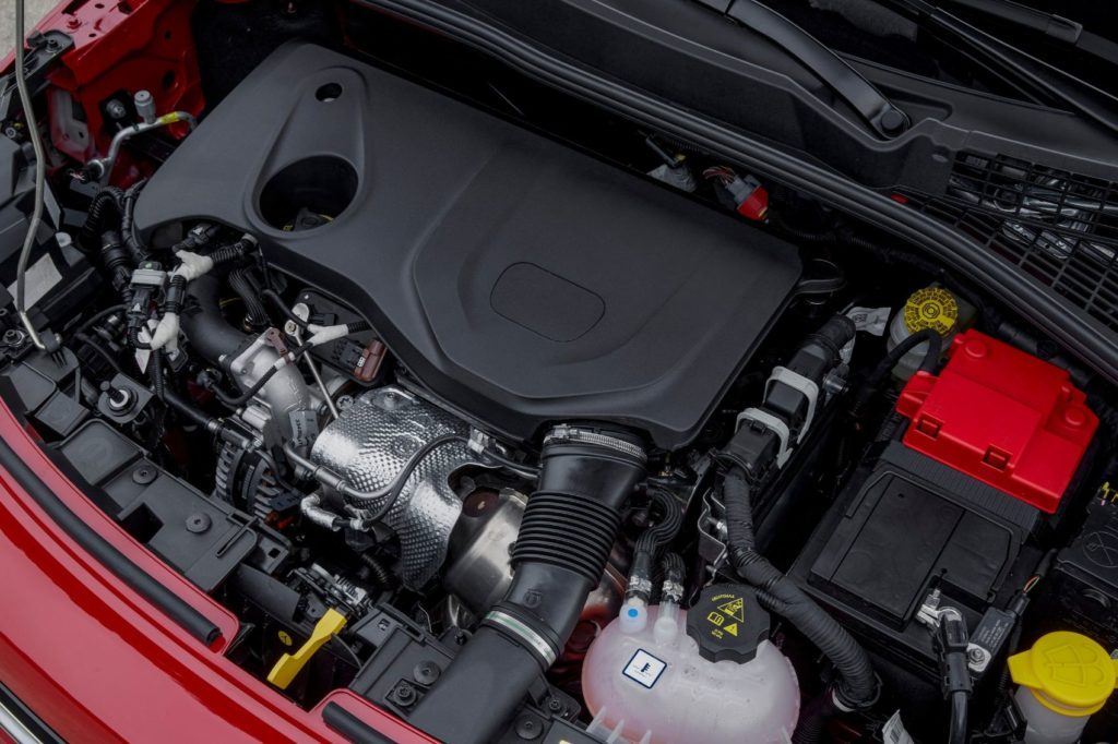 2020 Fiat 500X under the hood.
