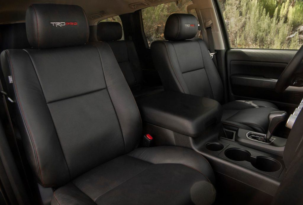 2020 Toyota Sequoia TRD Pro interior layout.