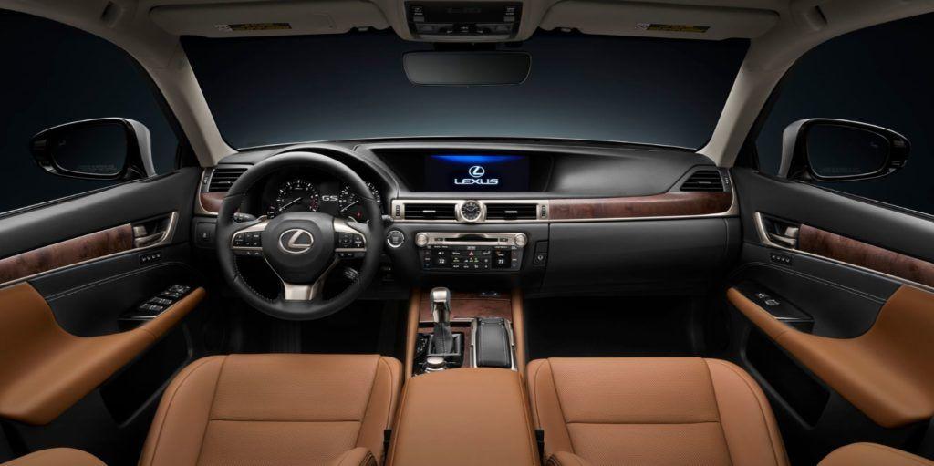 2020 Lexus GS 350 interior layout.