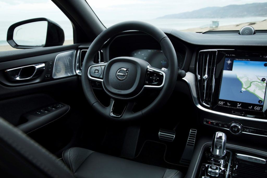 2020 Volvo S60 interior layout.