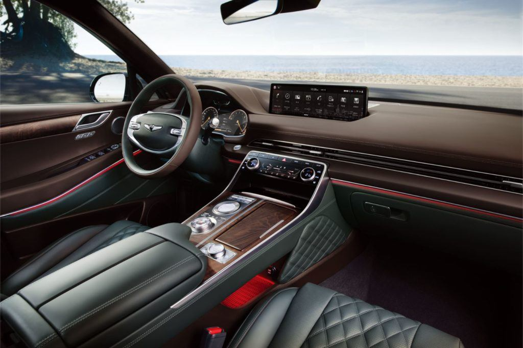 Genesis GV80 interior layout