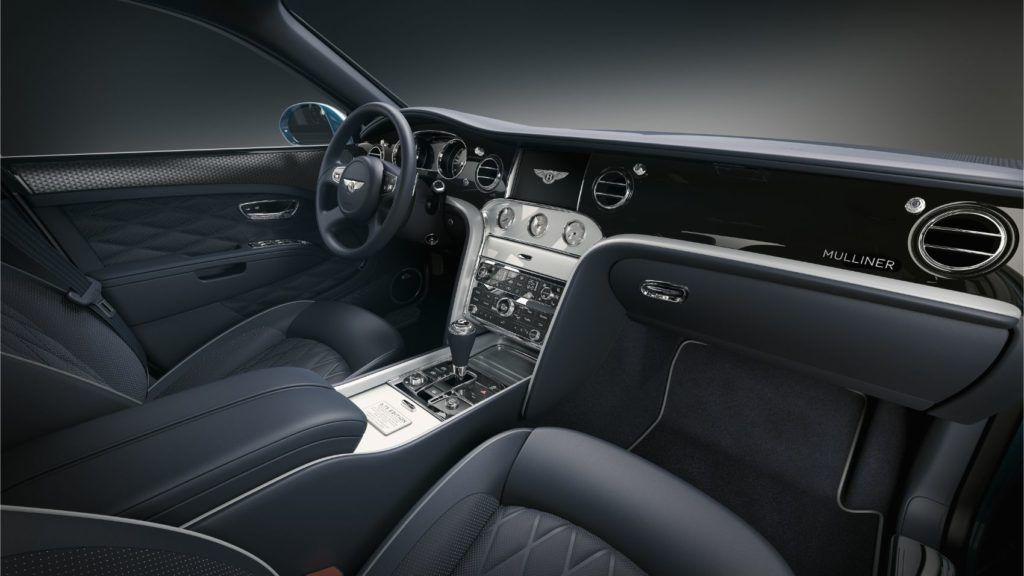 Bentley Mulsanne 6.75 Edition by Mulliner, interior layout.