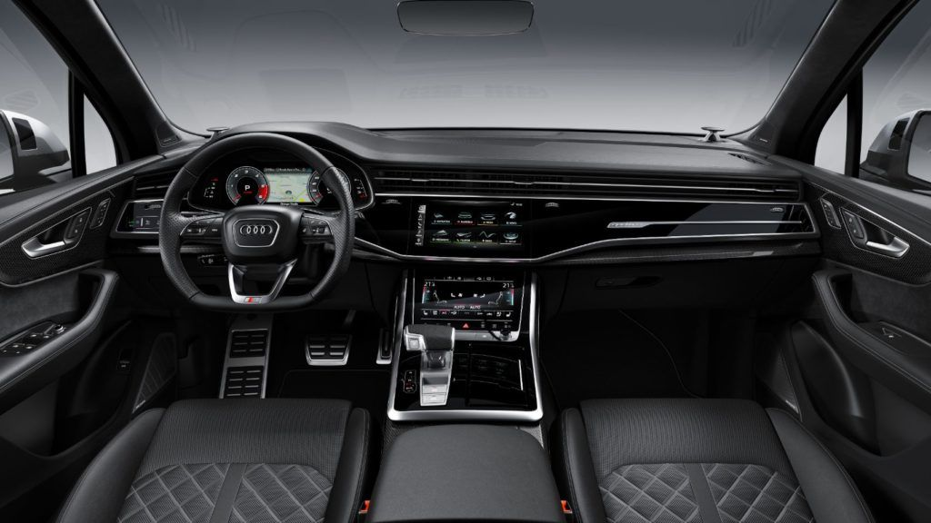 2020 Audi SQ7 interior layout.