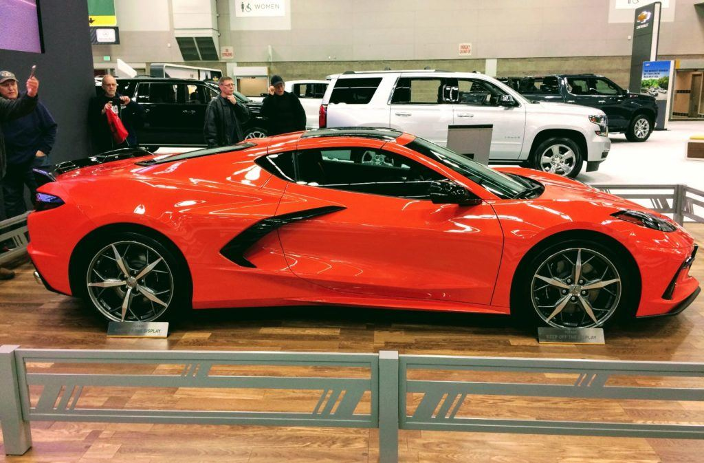 Chevy C8 Corvette on display at the Portland Auto Show, Thursday, February 20th, 2020. The Northwest Chevy Dealers invited Automoblog to their exhibit at the show.