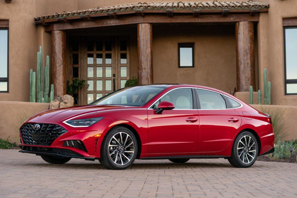 Blue Link provides things like remote start with climate control, remote lock/unlock, stolen vehicle recovery, and destination search by voice. On the 2020 Hyundai Sonata Limited, Blue Link services are complimentary for three years.