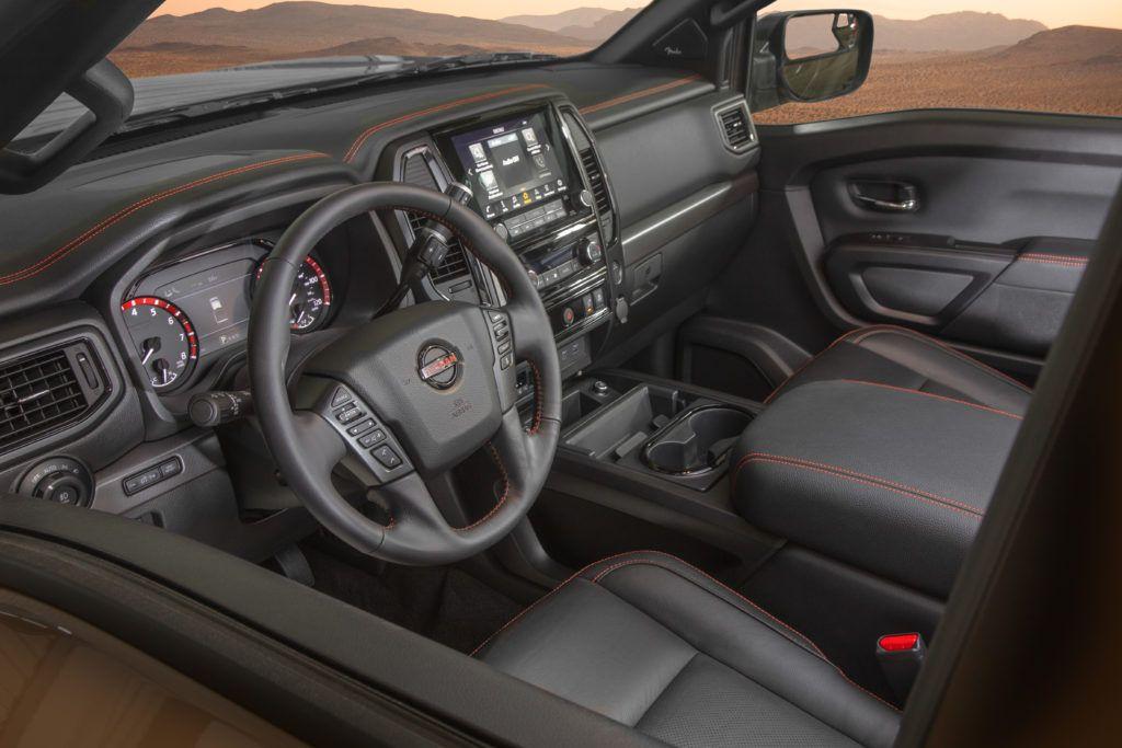 2020 Nissan Titan Pro-4X interior layout.