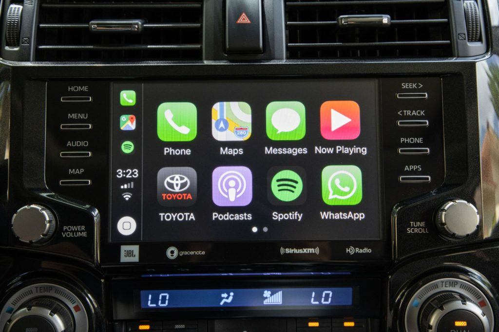 2020 Toyota 4Runner TRD Pro infotainment screen.