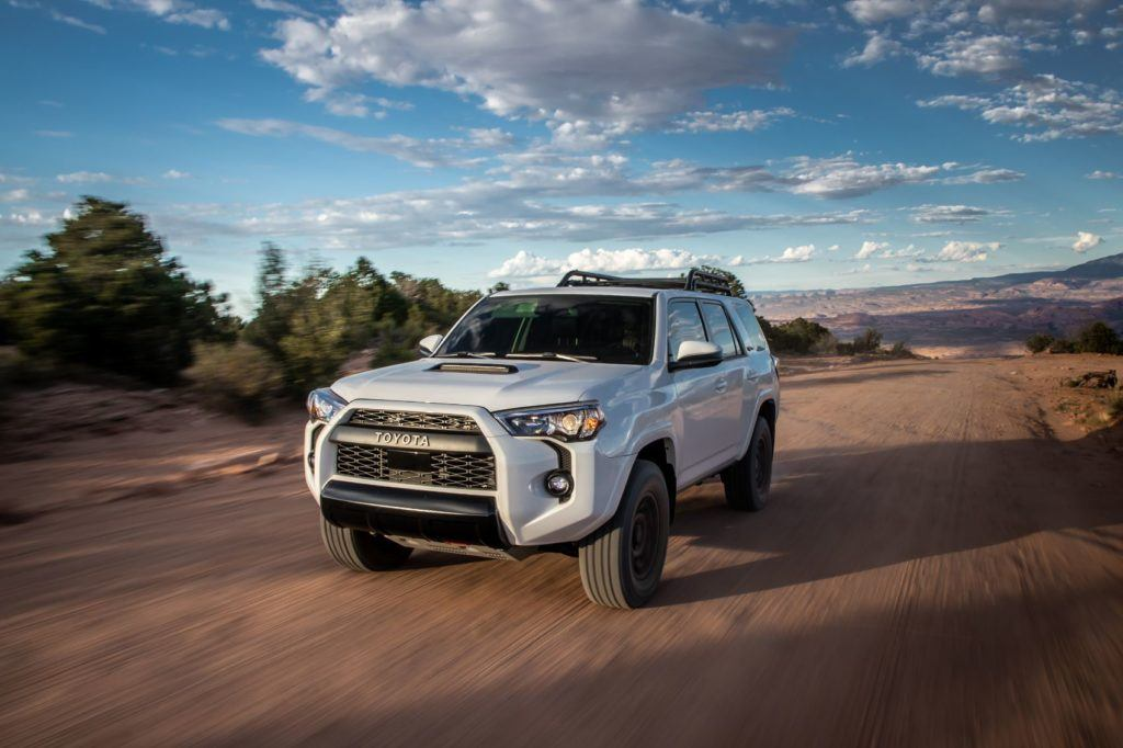 2020 Toyota 4Runner TRD Pro comes with 17-inch Nitto Terra Grappler tires.