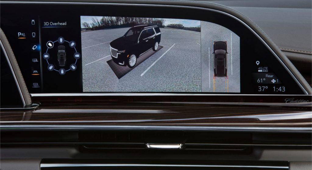 The surround view camera uses four exterior cameras.