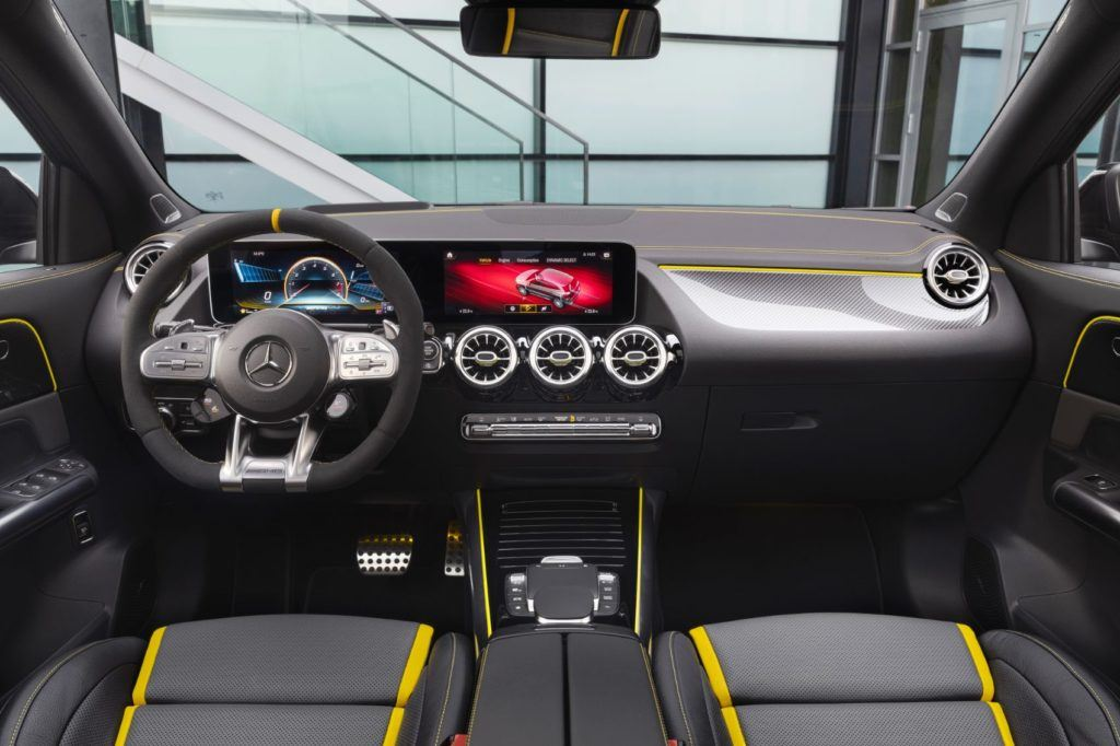 2021 Mercedes-AMG GLA 45 interior layout.