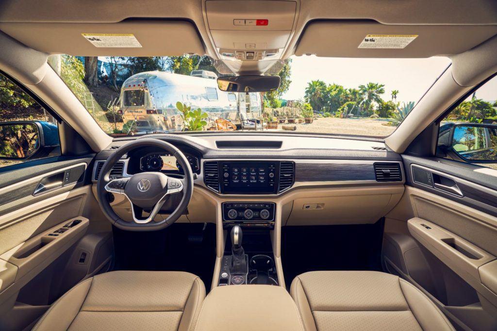 2021 VW Atlas interior layout.