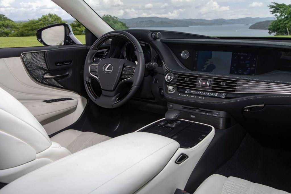 2020 Lexus LS 500 Inspiration Series interior layout.