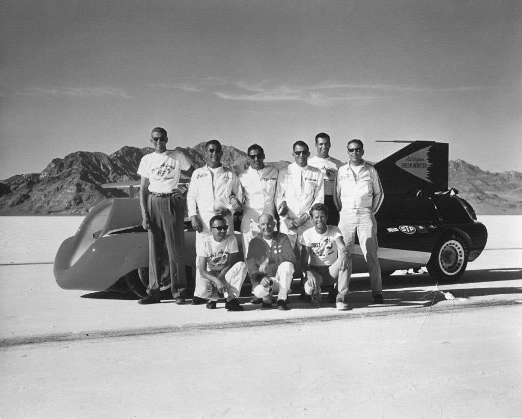 The Green Monster crew in October 1964. Photo: Tom Mayenschein. From Speed Duel: The Inside Story of the Land Speed Record in the Sixties by Samuel Hawley, with permission from Firefly Books Ltd.