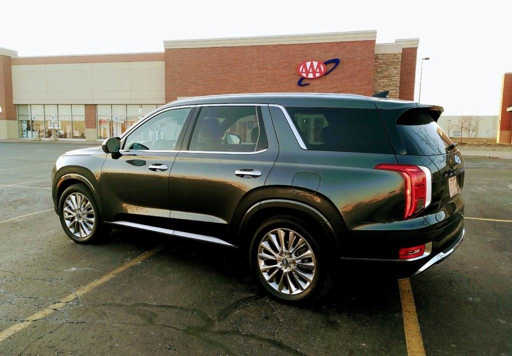 Our 2020 Hyundai Palisade press vehicle outside the AAA offices in Allen Park, Michigan.