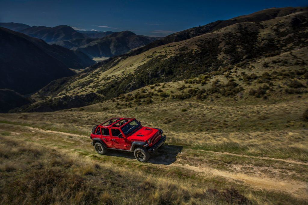 2020 Jeep Wrangler Unlimited Rubicon on the trail.