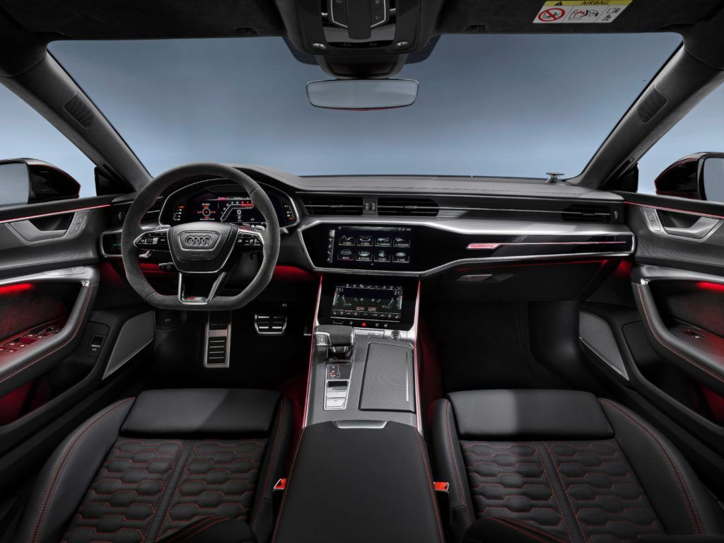 2021 Audi RS 7 interior layout.