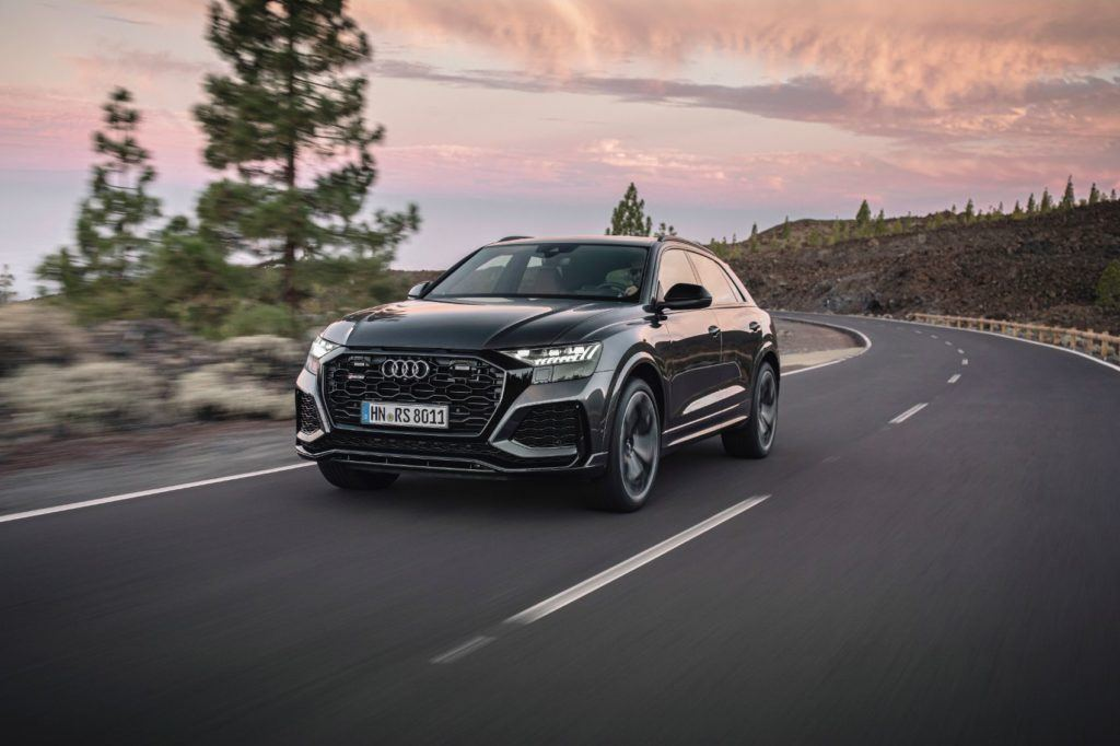 "Audi says the the ""1-3-7-2-6-5-4-8"" ignition sequence gives the engine of the RS Q8 a robust sound."
